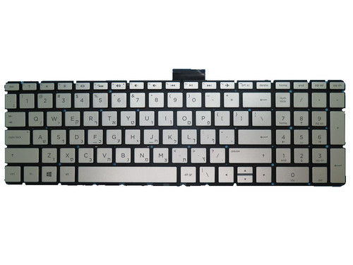 Laptop Keyboard For HP 250 G6 255 G6 256 G6 silver No Backlit Film Without Frame Hebrew HB