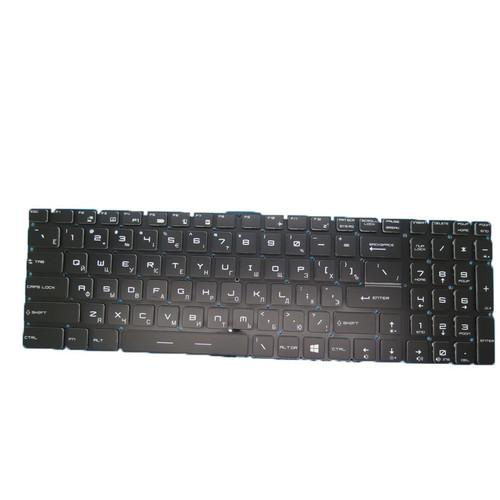 Laptop Colourful Backlit Keyboard For MSI GL75 GL75 Leopard 9SC 9SCK 9SD 9SDK 9SE 9SEK 9SFK 9SGK GL75 Leopard 9SCSR 9SCXR 9SCXR 9SDR 9SER MS-17E4 MS-17E5 Russian RU Black RGB Backlit With interface