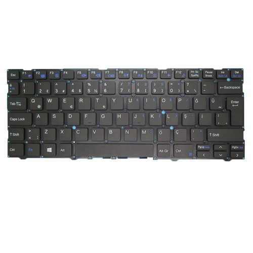 Laptop NO Backlit Keyboard For CLEVO CVM19C56TQ-43001 6-80-L1400-252-1 Turkey TR NO Frame