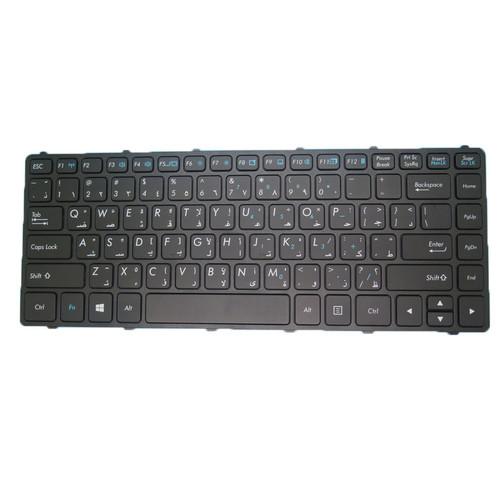 Laptop AR Translucent Keyboard For Getac V138418DS1 531087680949 Arabia AR With Black Frame 99% New