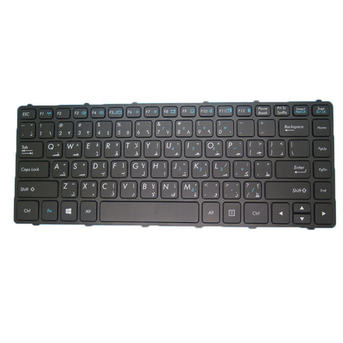 Laptop AR Translucent Keyboard For Getac S410 S410 G2 S410 G3 S410 G4 Arabia AR With Black Frame 99% New