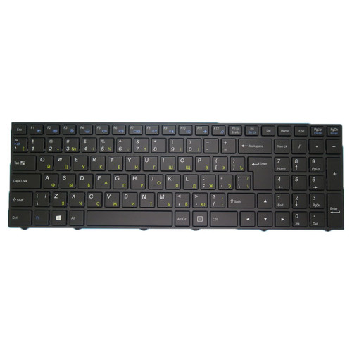 Laptop With Backlit Keyboard For CLEVO N250 N250JU N250LU N251JU N251LU N250PU N251PU N252PU Russian RU With Black Frame