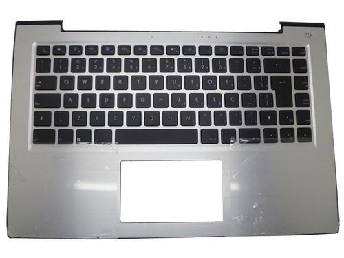 Laptop PalmRest&Keyboard For CCE T345 T745 730534100104 DOK-V6365A Brazil BR Silver NO Touchpad
