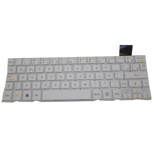 Laptop Keyboard For LG Z160 H160 V137867AR1 AEW738980436 White Brazil BR NO Frame