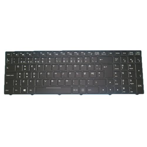 Laptop Backlit Keyboard For Gigabyte Sabre 15 Sabre 17 CVM15F26N0J4309 6-80-N85H0-130-1 2Z703-NE45K-C80S Norwegian NW Black Frame