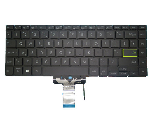 Laptop Keyboard For ASUS S433EA S433EQ S433FA S433IA Without Frame Black United Kingdom UK With Backlit