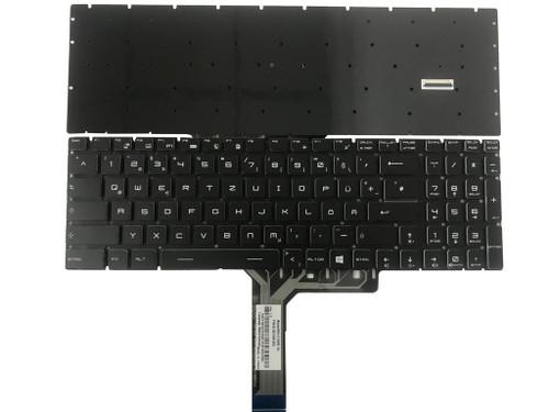 Laptop RGB Backlit Keyboard For MSI GP65 Leopard 9SEX 9SFX 10SCSK 10SCSR 10SCXK 10SFSK 10SCXR 10SDK 10SDR 10SEK 10SER 10SFK 10SFR Colourful Backlit German GR NO Frame