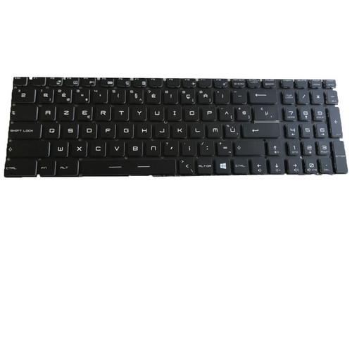 Laptop RGB Backlit Keyboard For MSI GP76 Leopard 10UE 10UG 10UH GP76 Leopard 11UE 11UG 11UH MS-17K2 Colourful Backlit Belgium BE NO Frame