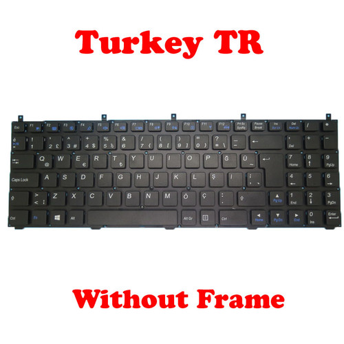 Laptop Keyboard For CLEVO M9800 M980NU MP-08J46TQ-4308W 6-80-M9800-254-1 Turkey TR NO Frame