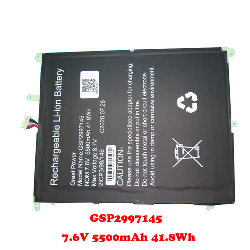 Laptop Battery For Teclast F7 Plus GSP2997145 7.6V 5500mAh 41.8Wh 10PIN 7Lines 200*160