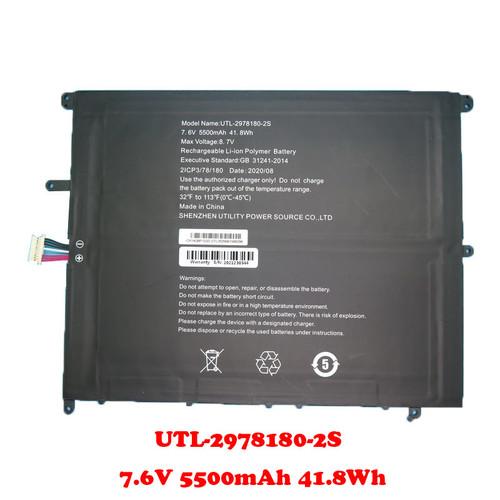 Laptop Battery For Teclast F7 Plus UTL-2978180-2S 7.6V 5500mAh 41.8Wh 10PIN 7Lines 200*160