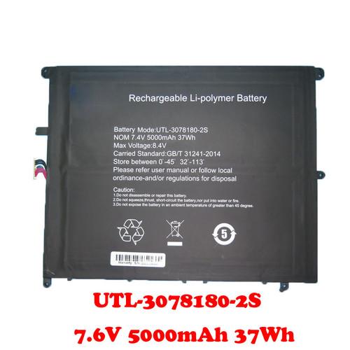 Laptop Battery For Teclast F7 Plus UTL-3078180-2S 7.6V 5000mAh 37Wh 10PIN 7Lines 200*160