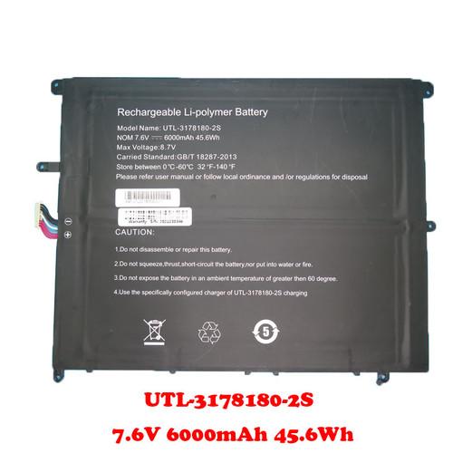 Laptop Battery For Teclast F7 Plus UTL-3178180-2S 7.6V 6000mAh 45.6Wh 10PIN 7Lines 200*160