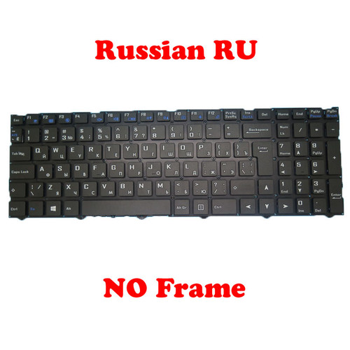 Laptop Keyboard For CLEVO NJ50CU CVM18H86SU-4302 6-80-NJ500-280-1 Russian RU NO Frame New(Big Enter)