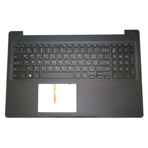 Laptop Palmrest For DELL Latitude 3590 E3590 0V5YGX V5YGX 0NJ39W NJ39W with backlit Arabia AR keyboard black upper case new