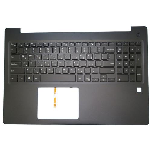 Laptop Palmrest For DELL Latitude 3590 E3590 0G0DDD G0DDD 0477CY 477CY with backlit Hebrew HB keyboard with fingerprint hole black upper case new