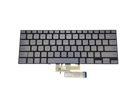 Laptop Keyboard For ASUS UX462 UX462DA 0KNB0-262NUK00 NSK-WR2BQ 0U 9Z.NFKBQ.20U United Kingdom UK Silver With Backlit