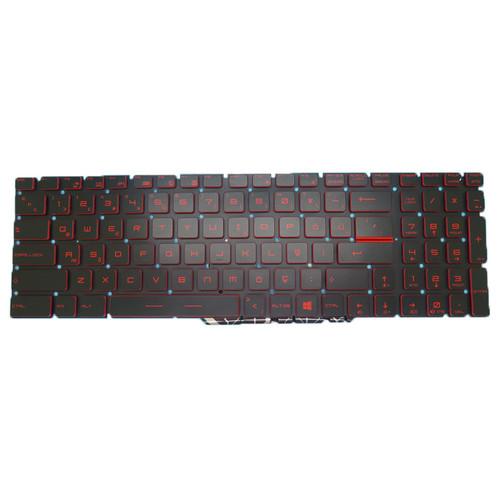 Laptop Backlit Keyboard For MSI GS70 GS60 GT72 GT62 NSK-FB1BN 0T 9Z.NCXBN.10T S1N3ETR2B2D10 S1N-3ETR2B2-D10 Crystal Keycap Turkey TR NO Frame
