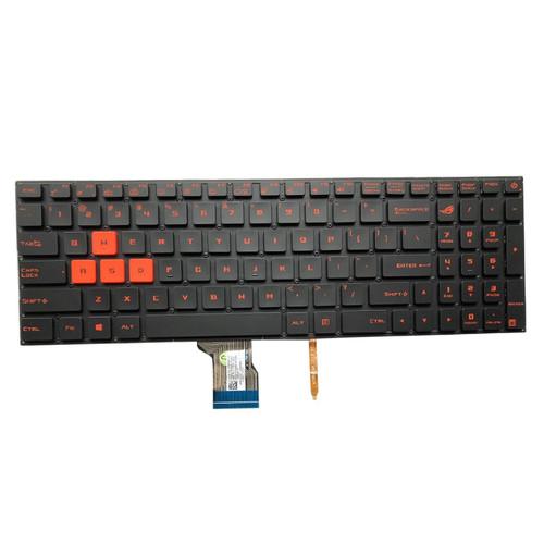 Laptop Keyboard For ASUS GL702V GL702VM GL702VMK GL702VI GL702ZC GL702VT GL702VS Without Frame With Backlit US United States orange Font color