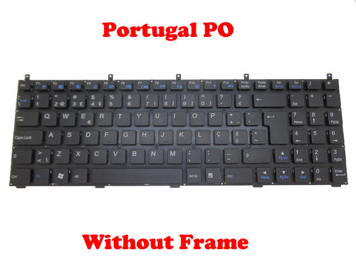 Laptop Keyboard For CLEVO B5100M B5120 B5121 B5123 B5125 B5130M B7110 B7130 C5100Q-C C5105-C C5500Q-C C5505-C E5120Q-C 5125-C E5128Q-C E7130 Portugal PO Without Frame/Black Frame