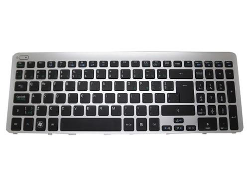 Laptop Keyboard For Acer M5-581 M3-581 V5-571 V5-531 V5-571G NK.I1713.00Y MP-11F56CU-4424 Canada CA Silver Frame
