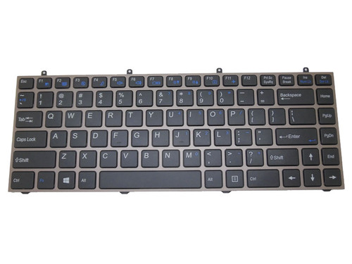Laptop Keyboard For CLEVO W230ST MP-12R73US-430 6-80-W5470-010-1 United States US With Brown Frame