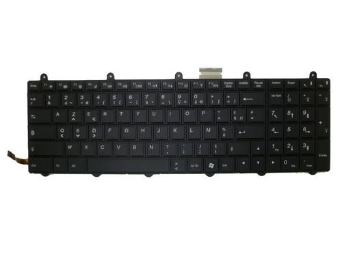Laptop Keyboard For Clevo P170EM P150EM FR France 6-80-P2700-060-3 V132150AK1 FR Black With Backlit & Frame