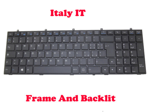 Laptop Keyboard For CLEVO W370ET MP-13H86I0J430 6-80-W6700-101-1 6-80-W6700-102-1 Italian IT With Black Frame And Backlit