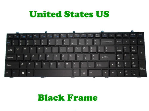 Laptop Keyboard For CLEVO W370ET MP-13H83U4J4309 6-80-W67C0-010-1 U.S.English International UI With Black Frame And Backlit