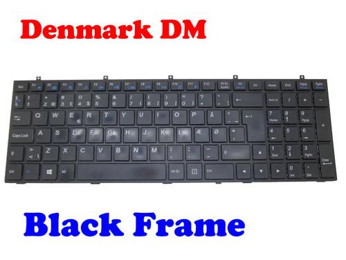 Laptop Keyboard For CLEVO W370ET MP-12A36DK-4301W 6-80-W37S0-030-1 6-80-W670STQK-030-W Danish DM With Black Frame