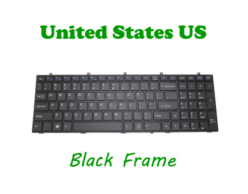Laptop Keyboard For CLEVO W370ET MP-12A33U4-4301W 6-80-W37S0-010-1 6-80-W670STQK-010-W U.S.English International UI With Black Frame