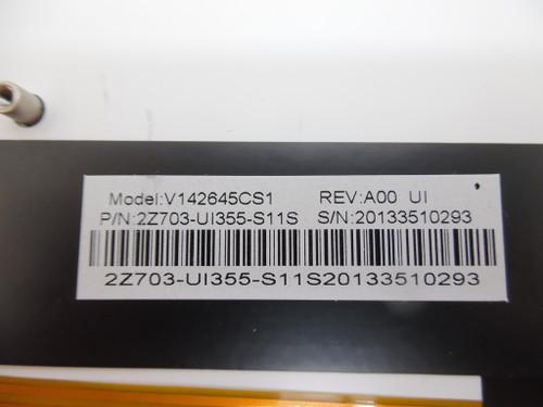 Laptop Keyboard For Gigabyte V142645CS1 2Z703-US355-S11S United States US With Silver Frame And Backlit