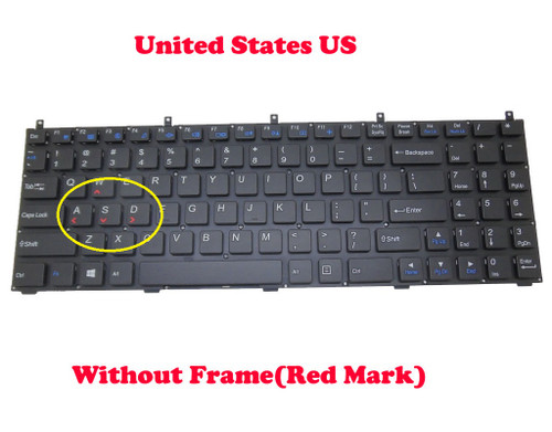 Laptop Keyboard For CLEVO M9800 MP-08J43U4-4304W 6-80-P15S0-010-1 6-80-W67B0-010-1 U.S.English International UI Without Frame