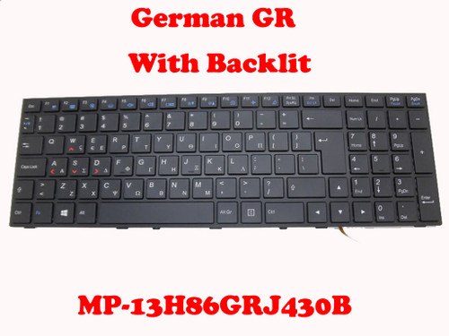 Laptop Keyboard For CLEVO P650 MP-13H83GRJ430B 6-80-P6500-221-1 6-80-P6500-223-1 Greek GK With Black Frame And Backlit