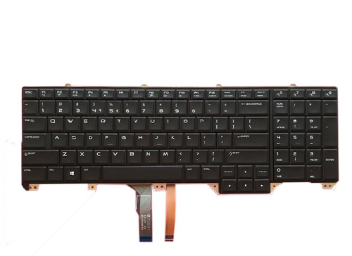 Laptop Keyboard For DELL Alienware 17 R2 R3 P43F International English UI NSK-LC1BC 1D PK1318F1A03 00V352 0V352 black with backlit new