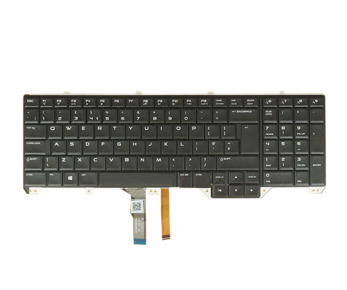 Laptop Keyboard For DELL Alienware 17 R2 R3 P43F UK United Kingdom NSK-LC1BC 0U PK1318F1A07 0KWJGT KWJGT black with backlit new