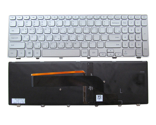 Laptop Keyboard For DELL Inspiron 15 7000 7537 P36F JP Japanese 90.47L07.L0J SG-62010-2VA Silver Backlit new