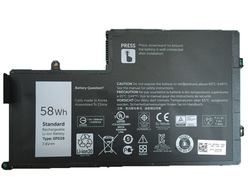 Laptop Battery For DELL Inspiron 15 5547 5545 14 5447 5448 5445 3450 0PD19 7.4V 58WH 7600mAh