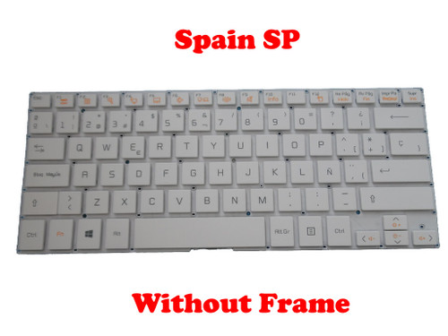 Laptop Keyboard For LG 13U360 13U360-E 13U360-L 13UD360 13UD360-L LG13U36 LGM15C26E0-1611 White Spain SP