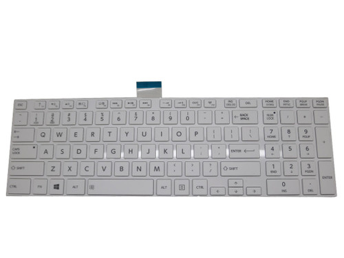 NEW TOSHIBA SATELLITE C855-1GN REPLACEMENT LAPTOP KEYBOARD BLACK UK WITH FRAME