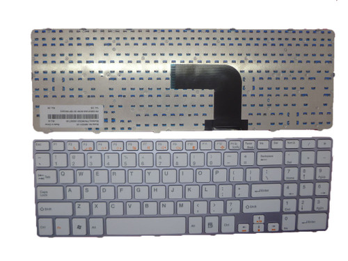 Laptop Keyboard For Compal QAL50 QAL51 United States US NK8201-00000T-00 PK130KW1A00 NK8201 white with silver frame