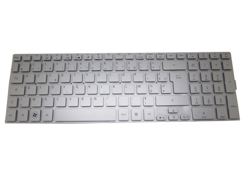 Laptop Keyboard For Acer Aspire 5943 5943G 8943 8943G Silver France FR