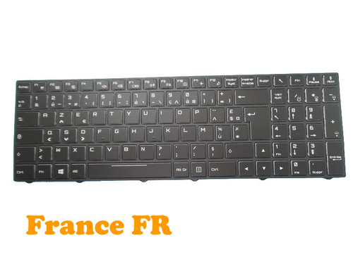Laptop Backlit Keyboard For Gigabyte Sabre 15 W8 15-K 15-G France FR With Black Frame New