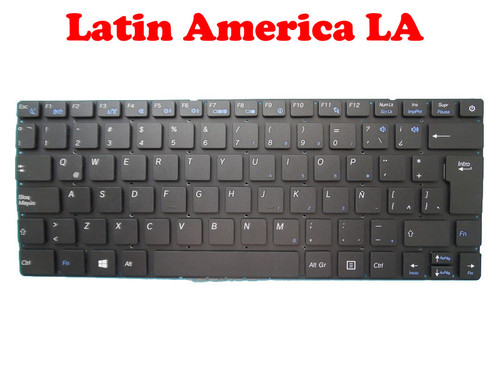 Laptop Keyboard For Entroware apollo 13' 2015 Latin America LA Without Frame