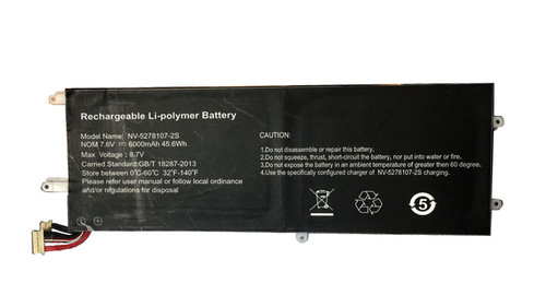 Laptop Battery NV-5278107-2S 7.6V 6000mAh 45.6Wh new