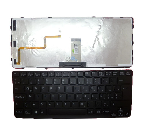 Laptop Keyboard For SONY VAIO SVE141 V134146AK3LA 149175111LA AEHK6L031103A V134146AK1LA 149020051LA Latin America LA black with frame backlit