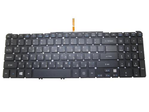 Laptop Keyboard For ACER Aspire M5-581 M3-581 V5-571 V5-531 NSK-R3KBW 0A 9Z.N8QBW.K0A NK.I1717.075 MP-11F5 Hebrew HB Without Frame & With Backlit