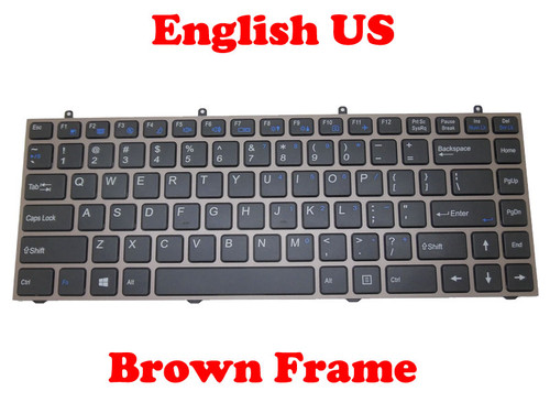 Laptop Keyboard For W230SD W230SS W230ST United States US Gray Frame/Brown Frame