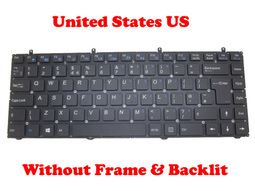 Laptop Keyboard For W230SD W230SS W230ST United Kingdom UK Gray Frame And Backlit/Without Frame & Backlit