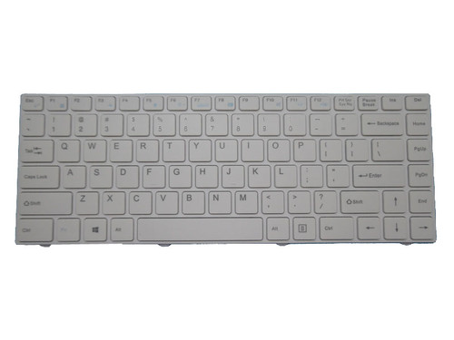 Keyboard For ENZ R34 DK300H PRIDE-K2119 343000018 LT-14101RHWB/N English US White Frame